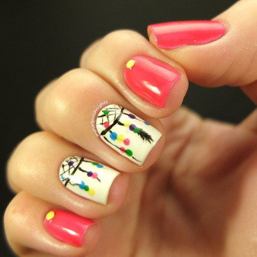Dream catcher nail art nail art by Anna Malinina