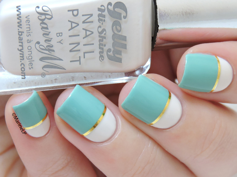 Color Block nail art by Marine Loves Polish