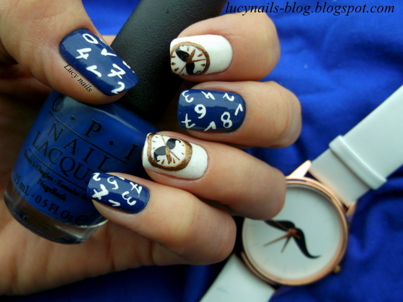 Tick tock nail art by Lucynails26