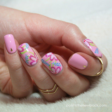 Flower Power nail art by Polishisthenewblack