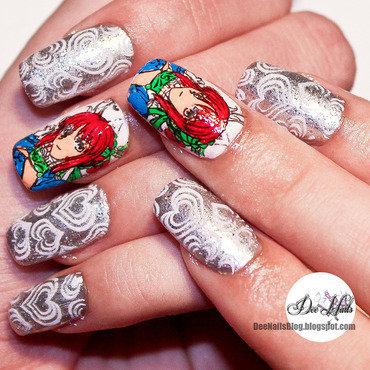 Anime nail art nail art by Diana Livesay