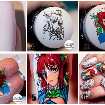 Advanced stamping tutorial nail art by Diana Livesay