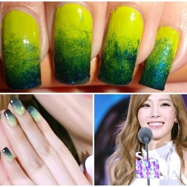 Spring Gradient Nails nail art by Leneha Junsu
