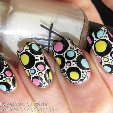 Retro Leadlight Nail Art nail art by Marie