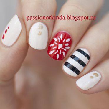 Mix and match nail art by Passionorkinda