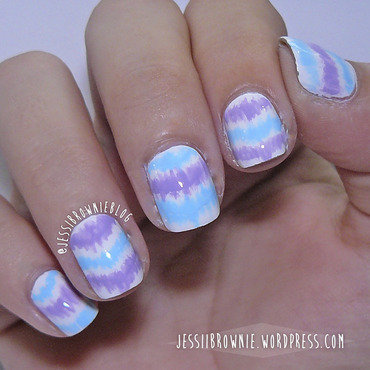 WNAC - Pastel - Ikat nail art by Jessi Brownie (Jessi)