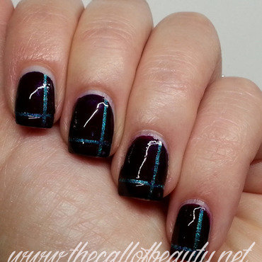 Simple Striping Tape Mani nail art by The Call of Beauty
