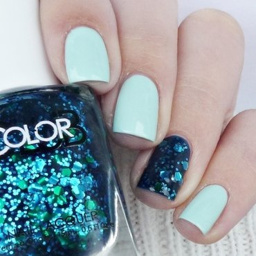 Maybelline Mint For Life and Color Club Valedictorian Swatch by Romana