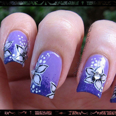 50 shades of violet nail art by Ninthea