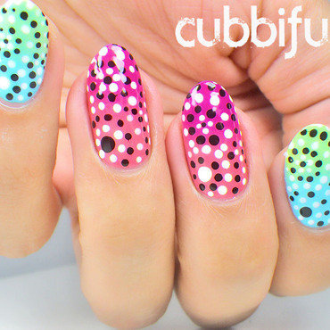 Tribal Floral Dotticure nail art by Cubbiful