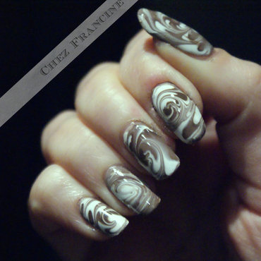 i-Cappuccino nail art by Francine