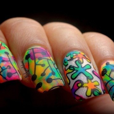 Color Fun nail art by Nicky
