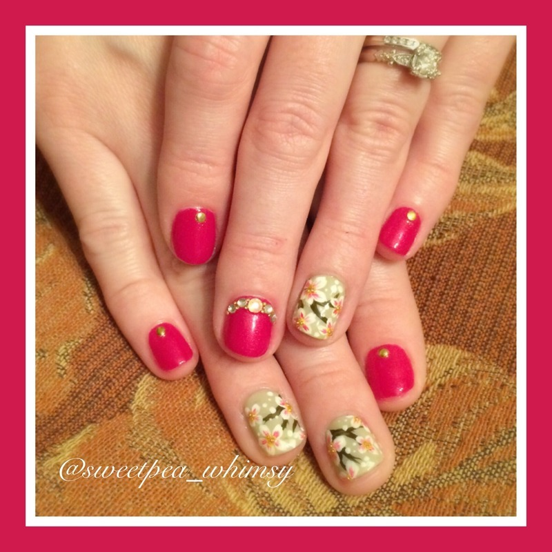 Another Floral Mani nail art by SweetPea_Whimsy
