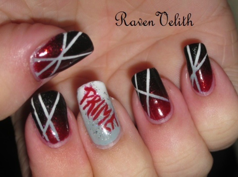 Cognitive Prime nail art by Lynni V.