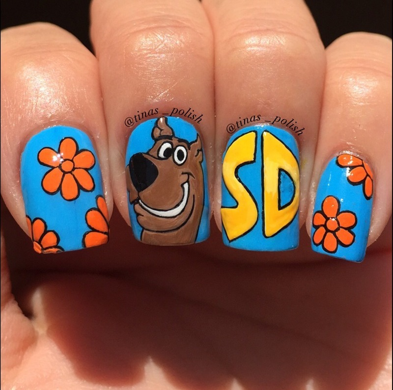 Scooby doo nail art by christina nailpolis museum of nail art scooby doo nail art by christina prinsesfo Image collections