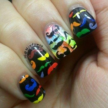Movember, my dear!! nail art by mindywong