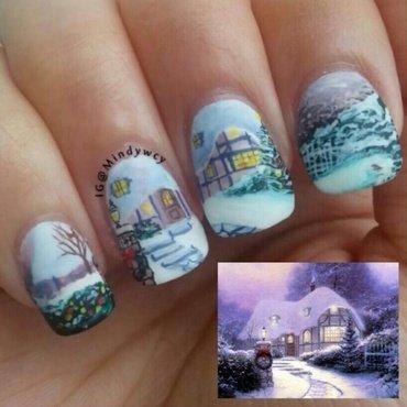 winter wonderland nail art by mindywong