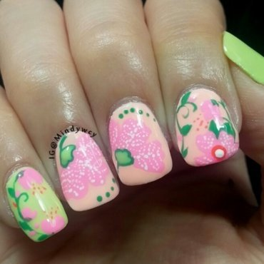 Spring has come!!! nail art by mindywong