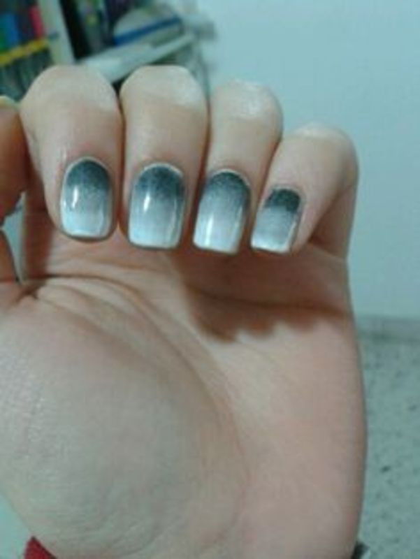 50 shades of grey nails - grey ombre nail art by Maya Harran