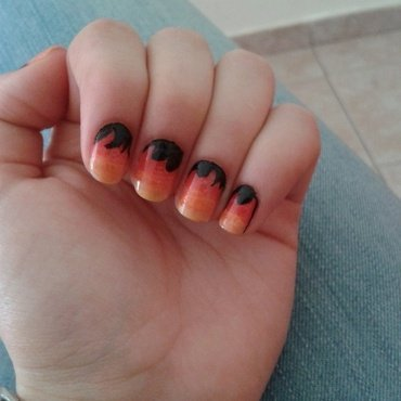 Fire nail art by Maya Harran