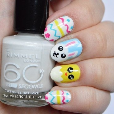 easter fun nail art by Aleksandra Mroczek