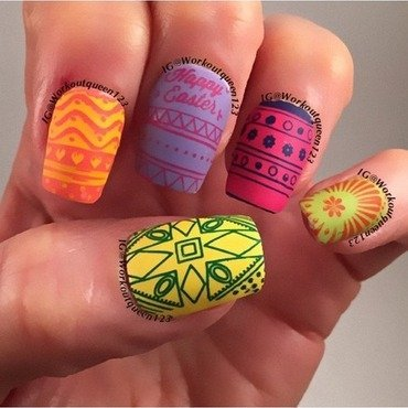 Easter nail art by Workoutqueen123
