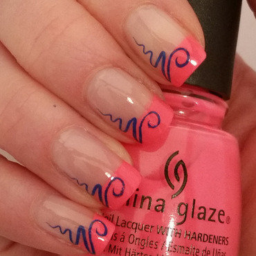 Fancy French nail art by Gr8Nails