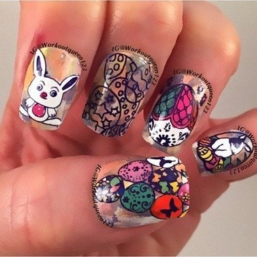Happy Easter nail art by Workoutqueen123