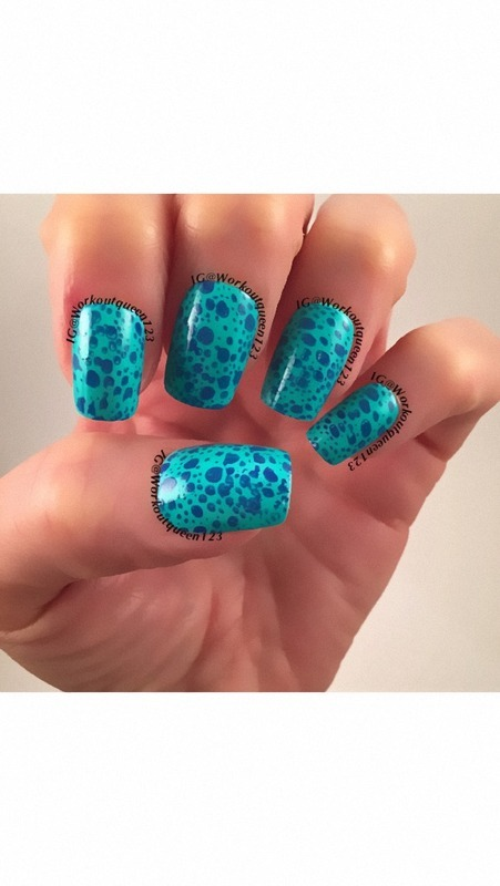 Jelly sandwich mani nail art by Workoutqueen123