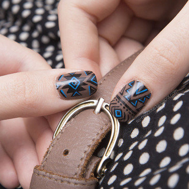 Aztec nail art by Magdalena