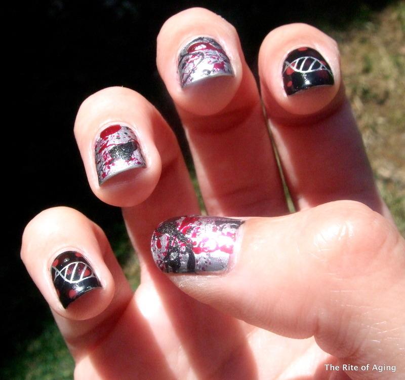 Hemangiosarcoma Awareness Nail Art nail art by Monica