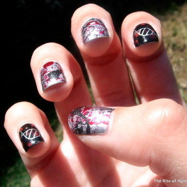 Hemangiosarcoma Awareness Nail Art nail art by Monica