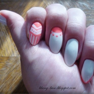 Aztec designs nail art by lilang_baso