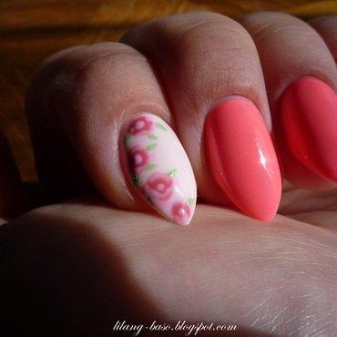 Roses nail art by lilang_baso