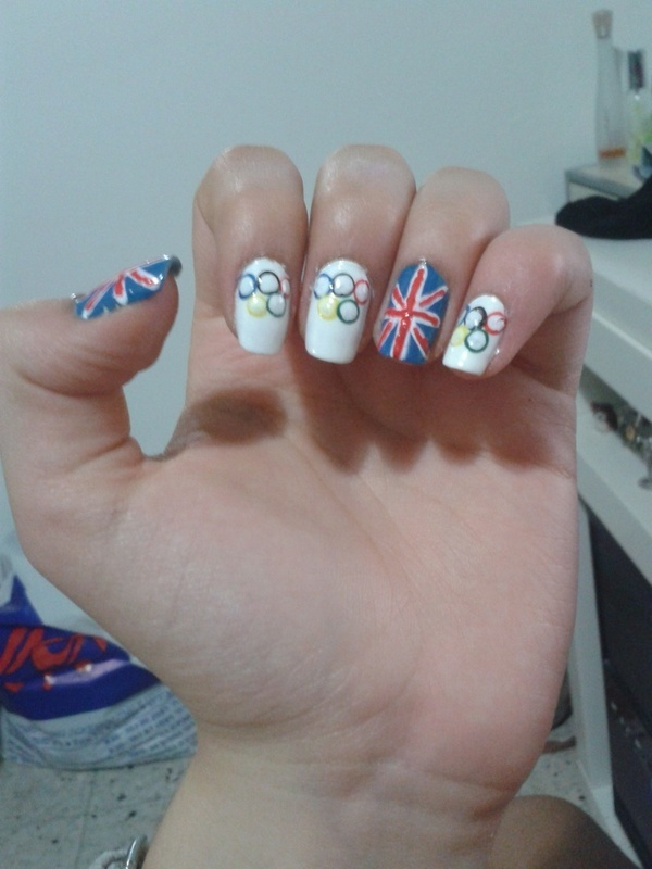 London Olympics 2012 nail art by Maya Harran