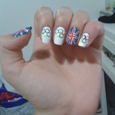 London Olympics 2012 nail art by Maya Harran