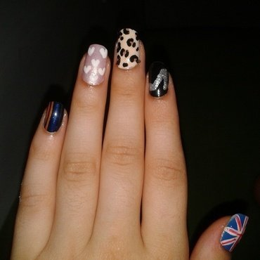Spice Girls nail art by Maya Harran