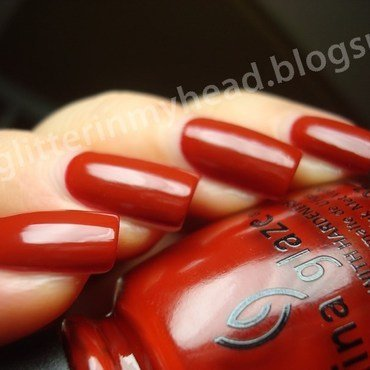 China Glaze The Giver Seeing Red Swatch by The Wonderful Pinkness