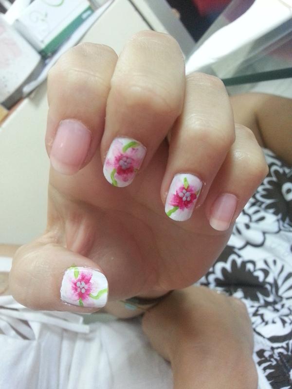 Spring Flowers nail art by Maya Harran