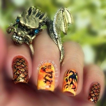 Game of Thrones Nails nail art by Debbie