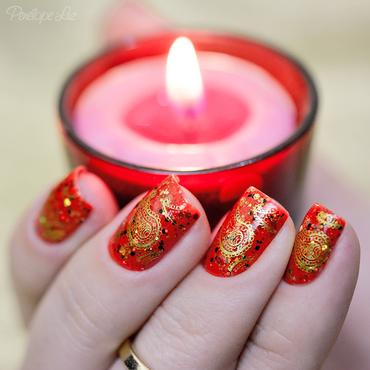 indian nail art nail art by Penélope Luz