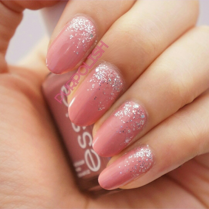 Classy Glittery Nude nail art by purpolish