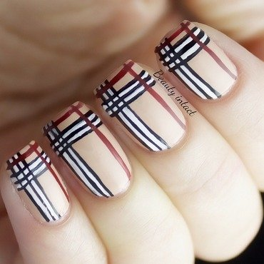 Burberry Nails nail art by Beauty Intact