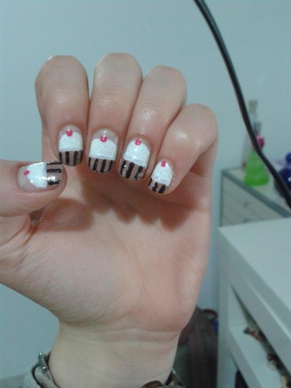 Cupcakes nail art by Maya Harran