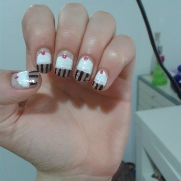 Cupcakes nail art by Maya Harran