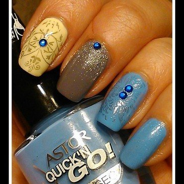 Stamping nail art by Marzena