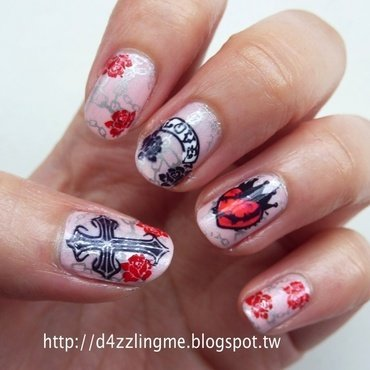 Romeo and Juliet  nail art by D4zzling Me