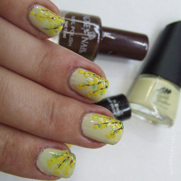 Forsythia nail art by Barbara P.