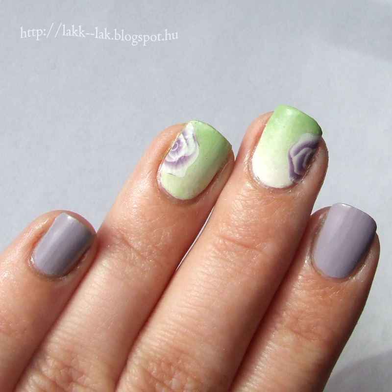 Simple spring nail art by Barbara P.