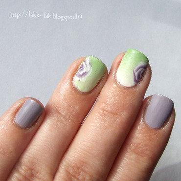 Simple spring nail art by Barbara P.
